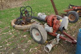 Rainway HPRL 600 pump, with hyd drive submersible pump and hose
