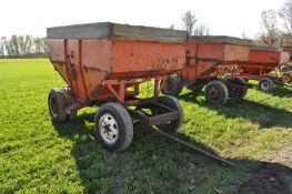 Killbros 350 gravity wagon on custom gear, dual rear wheel, 8.25-20 tires