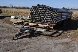 30' tandem axle irrigation pipe trailer