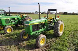 John Deere 2555 tractor, diesel, Hi/Lo trans (8 forward-2 reverse), single hydr, 3-pt, 540 PTO,