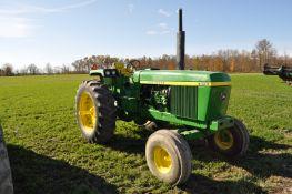 John Deere 4430 tractor, Syncro-Range trans, dual hydr, 3-pt, 540/1000 PTO, 18.4-38 rears & 11.00-18