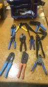 Crimping tools, cutters and rivet gun. From Ideal, Molex, Prestige, Pittsburg Forge, AMP, & Klinks