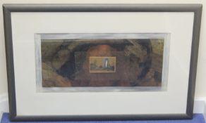 ALEXANDER BERDYSHEFF (GEORGIA B.1964).Landscape II.Mixed media.34cm x 70cm.Signed, dated (19)96,