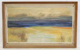 A. RUSSELL.A seashore.Oil on canvas.39cm x 70cm.Signed, dated 1970.
