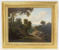 THE MANNER OF JOHN RATHBONE (BRITISH C.1750-1807).Gypsy encampment.Oil on canvas.56cm x 70cm.