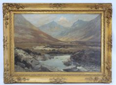 G. G. ANDERSON (SCOTTISH, EXH. 1892 TO 1917).Early spring Glen Cloy, Isle of Arran.Oil on canvas.