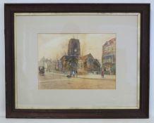 MUNSON (LATE 19TH/EARLY 20TH CENTURY ENGLISH SCHOOL).Chelsea Old Church from Cheyne Walk.Watercolour
