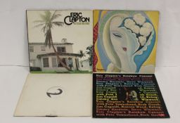 """Collection of Eric Clapton records to include 12"""" white label of 'I Shot The Sheriff', also 4 x LPs"""