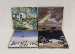 9 x Yes related LPs to include 'Going For The One', 'Relayer' and 'Tormato' also LP by Steve Howe.
