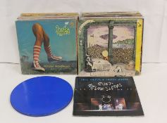 Over 50 x LPs to include Status Quo 'From the Makers Of', in circular blue tin also Hawkwind and The