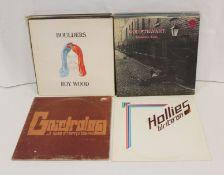 Rock/Pop LPs to include Rod Stewart of swirl Vertigo, Gnidrolog (lattice sleeve), Roy Wood, Hollies,