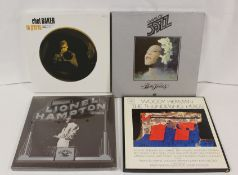 Boxed LP sets to include Chet Baker, Lionel Hampton and Billie Holiday also LPs by Clarence Carter