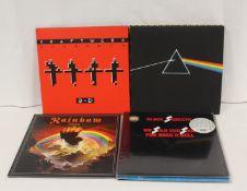 Rock related LPs to include Pink Floyd 'Dark Side Of The Moon', Kraftwerk, 3-D, Rainbow Rising,