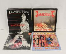 Collection of NWOBHM LPs etc to include Juggernaut, 2 x Quartz 'AAA',on red vinyl (one of which has