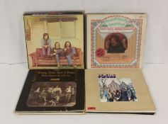 Collection of rock LPs to include Emerson Lake and Palmer, on Palm Tree label, with turquoise inner,