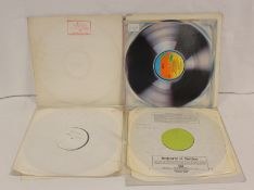 Selection of white label pressings and other promos to include Emerson Lake and Palmer ' Works'
