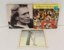 """20 x BandAid 'Do They Know It's Christmas' 12"""" also 5 x Steve Winwood 'Arc Of A Diver' LPs."""