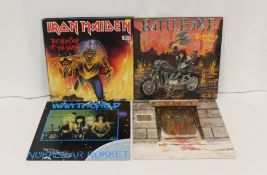 """Collection of NWOBHM 12"""" singles and LPs to include Iron Maiden, 2 x Wrathchild, Tyson Dog 'Beware"""