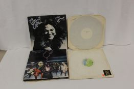 Deep Purple related LPs to include white label pressings of 'Scarabus' and 'Clear Air Turbulence' by