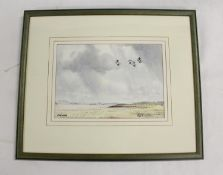 Ray R Nicol.Bowness.Signed, watercolour, 16cm x 23cm.