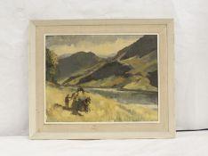 Vijia Dickson.Irish ViewOil on canvas, 34cm x 44cm.