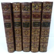 PASCAL BLAISE.  Oeuvres de Blaise Pascal. 5 vols. Eng. port. frontis (damp stng. to this & title