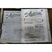 The Autocar. 51 orig. issues of this periodical. November 1902 to June 1918.