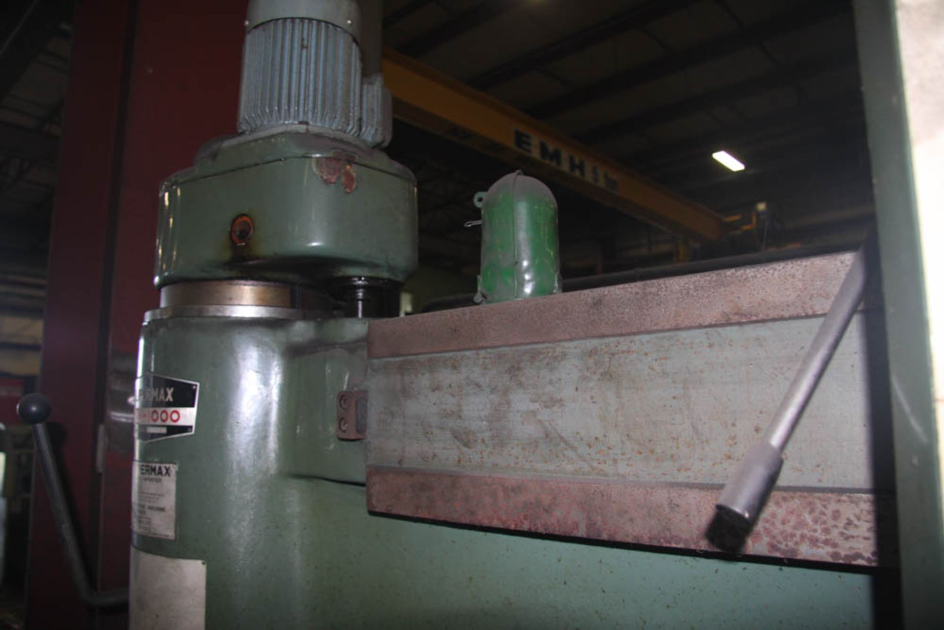"""SUPERMAX MDL. HRD-1000 3' X 9' RADIAL ARM DRILL, POWER ELEVATION, COOLANT, 17"""" X 18"""" X 18"""" T-SLOTTED - Image 6 of 11"""
