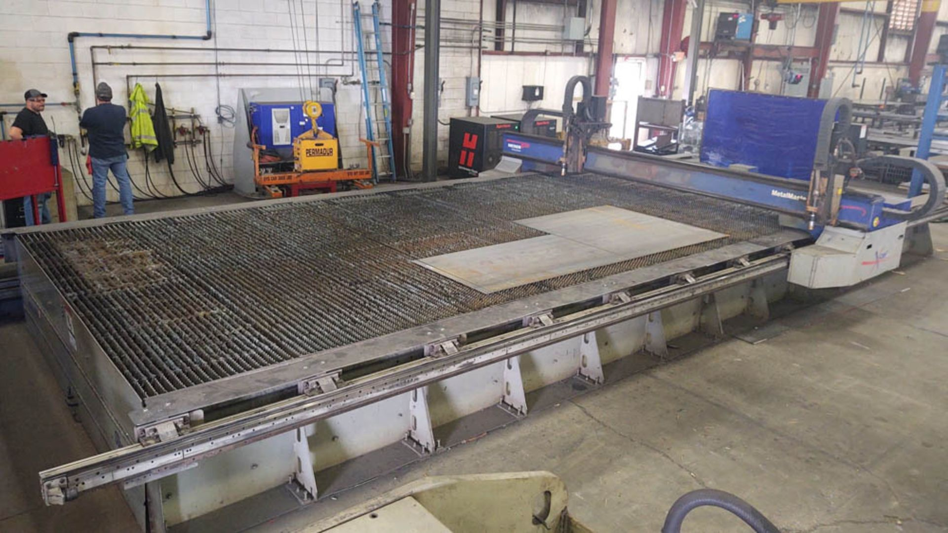 """2015 MESSER MDL. MMEXCEL HI-DEF CNC PLASMA CUTTING TABLE, [2] HEADS, 140"""" X 324"""" OVERALL TABLE SIZE, - Image 2 of 20"""