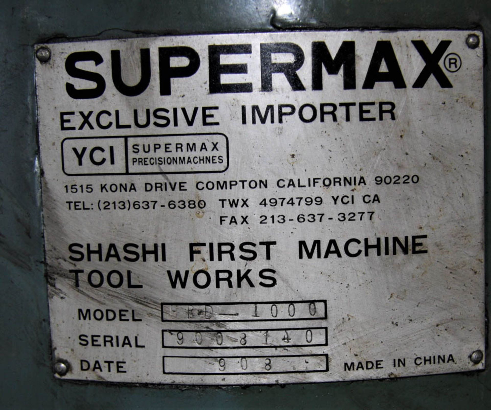 """SUPERMAX MDL. HRD-1000 3' X 9' RADIAL ARM DRILL, POWER ELEVATION, COOLANT, 17"""" X 18"""" X 18"""" T-SLOTTED - Image 4 of 11"""