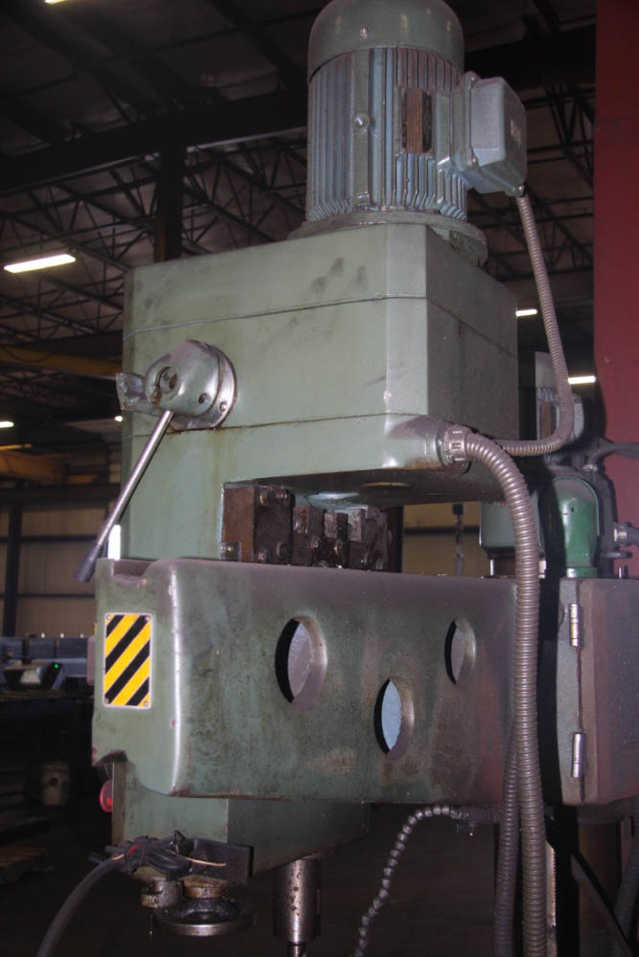 """SUPERMAX MDL. HRD-1000 3' X 9' RADIAL ARM DRILL, POWER ELEVATION, COOLANT, 17"""" X 18"""" X 18"""" T-SLOTTED - Image 11 of 11"""