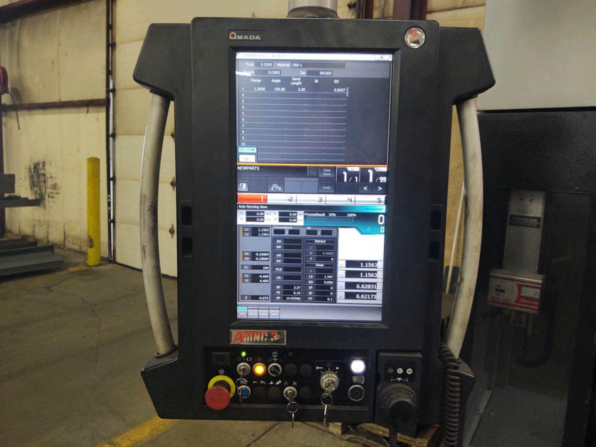 "2015 187 US TON X 122"" AMADA MDL. HG1703 CNC PRESS BRAKE, AMNC 3i CONTROL, 122"" MAX BEND LENGTH - Image 2 of 14"