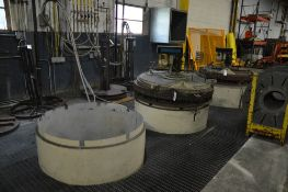 """SM ENGINEERING BELL PIT-TYPE ANNEALING FURNACE, [2] FURNACES, 36"""" INSIDE MAX HEIGHT, 42"""" INSIDE"""