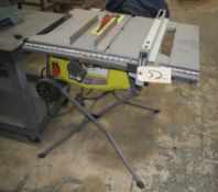 "RYOBI MDL. RTS23T 10"" TABLE SAW"