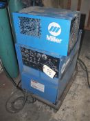 MILLER SYNCROWAVE 250 CONSTANT AC/DC ARC WELDING POWER SOURCE, W/ RADIATOR 1a COOLING SYSTEM, S/N: