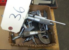 LOT OF MISCELLANEOUS MICROMETERS