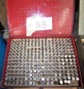 PIN GAGE SET, .250-.500