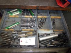 CONTENTS OF (2) DRAWS- ASSORTED DRILL BITS