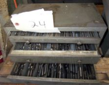 HUOT DRILL CABINET & CONTENTS