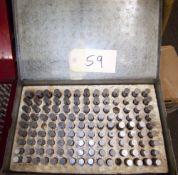 PIN GAGE SET,.500-.625