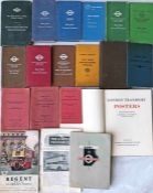 Quantity of mainly London Transport ephemera including 10 x RULE BOOKS incl 1917 LGOC and Central
