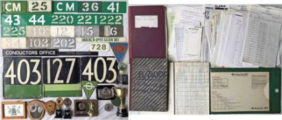 Large quantity of material relating (mainly) to London Transport/London Country Chelsham Bus