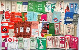 Considerable quantity (175+) of 1930s-70s London Transport POCKET MAPS & LEAFLETS including