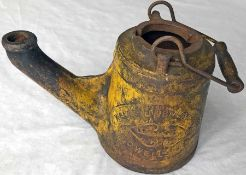 c1890-1900 Wells 'Unbreakable' cast-iron OIL LAMP No 18. These were typically used by railway
