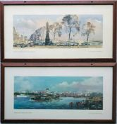 Pair of railway CARRIAGE PRINTS from the LNER post-war series comprising 'London, Cleopatra's Needle