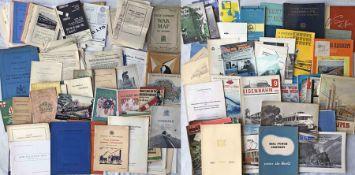 2 large boxes of UK & worldwide RAILWAY EPHEMERA, mostly 1930s-60s, including fold-out maps,