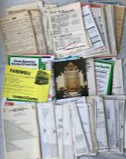 Large quantity of London Transport & London Country PANEL TIMETABLES & FARE CHARTS, 200+ of the