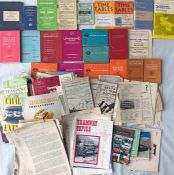 Crate containing a large quantity of RAIL & BUS TIMETABLES, BROCHURES & OTHER EPHEMERA, including