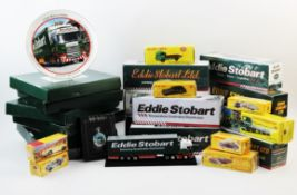 A collection of die cast models and effects to include, boxed re issued Dinky Toys 'Guy flat truck'