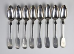 Four continental fiddle pattern silver tablespoons, each stamped '800' to reverse and 'W.RABE'